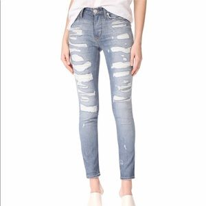 Hudson Nico Midrise Distressed Skinny Jeans NWT